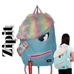 ZIPIT Grillz Backpack for Kids with Extra Side Pocket Teal NWT